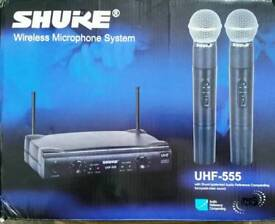 UHF dual radio microphone system