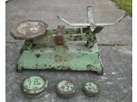 Old vintage shop scales and weighs