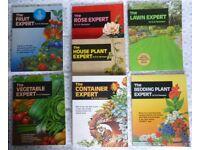 7 Expert Gardening books by Dr.D.G.Hessayon - Houseplant, vegetable, lawn, fruit, bedding, rose + 1