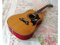 Epiphone Dove acoustic guitar