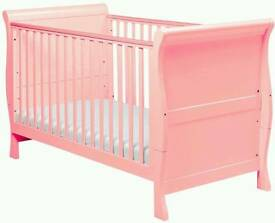 Pink sleigh cotbed