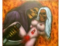 Airbrush canvas painting/mural