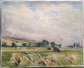 Very old watercolour on board