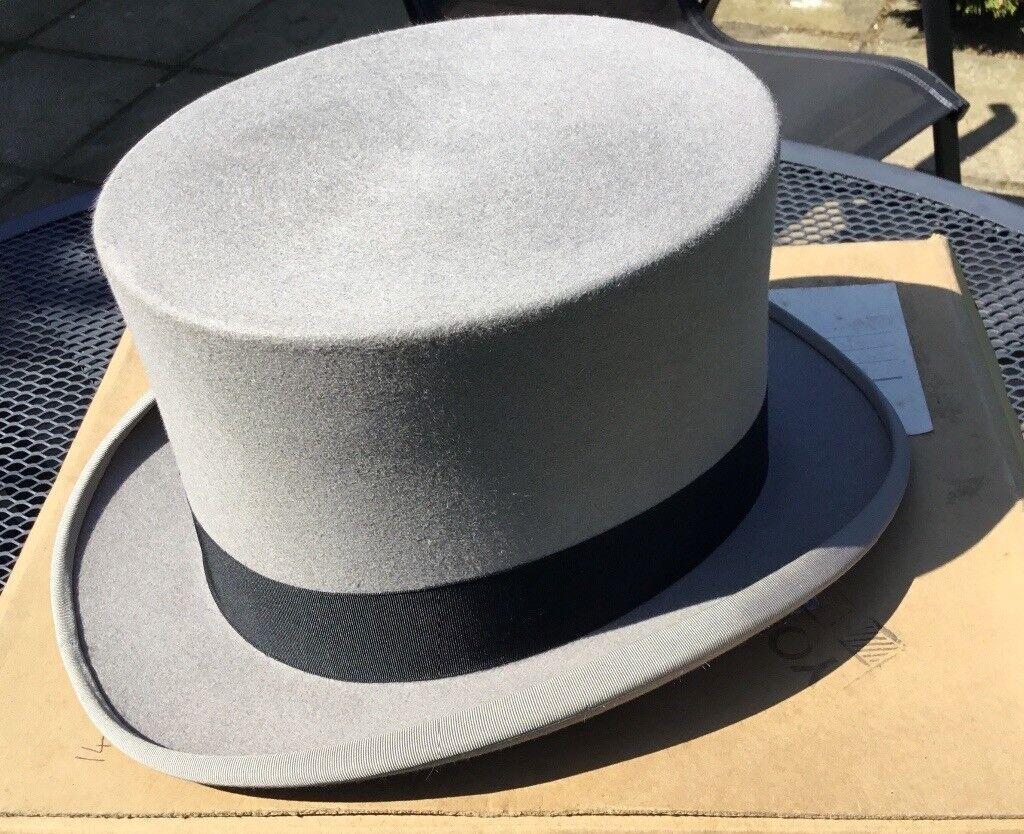 1e595d682cf97 Vintage Grey Top Hat