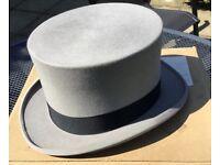 Vintage Grey Top Hat