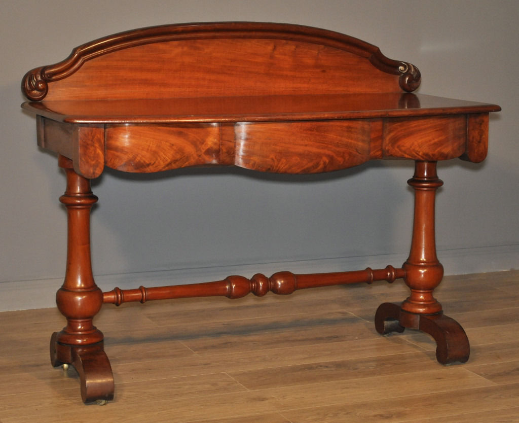 Attractive Antique Victorian Carved Mahogany Dressing Side Table, Gallery Back