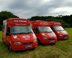Soft ice cream vans