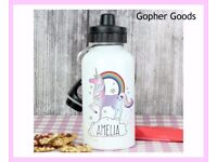 Personalised Unicorn Drinks Bottle, New