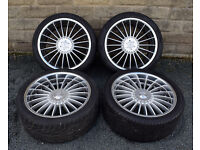 """22"""" Genuine Lenso alloy wheels tyres 5x120 Range Rover Sport Discovery 3 4"""