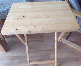 FOLDING SNACK/LAPTOP TABLE 38cm X 48cm