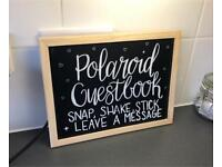 Chalkboard Sign Polaroid Photo Guest Book Wedding Party