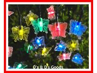 Mutli Coloured Butterfly Lights Set Of 35