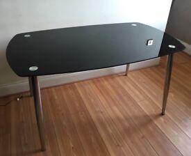 Modern Black Glass Dining Table