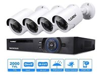 NEW SEALED FLOUREON OUTDOOR HD CCTV SECURITY SYSTEM (RECORDER, 4 CAMERAS)