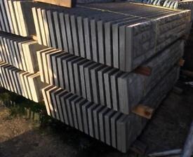 🌲 Rock Face Concrete Fencing Base Panels/ Gravel Boards
