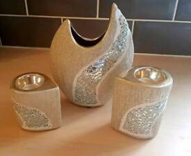 Formano vase and candle set.