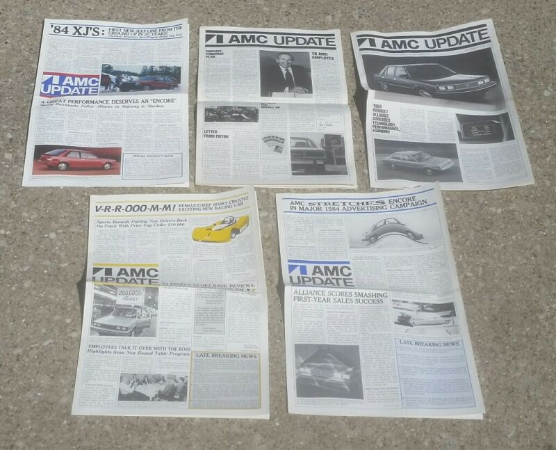Lot 5 1982/1983/1984 AMC Update Factory Employee Newspaper Jeep/Renault/Cherokee