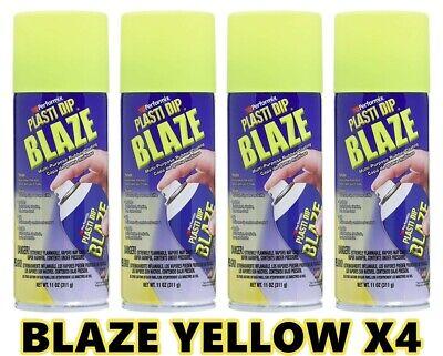 Performix Plasti Dip Blaze Yellow 4 Pack Rubber Coating Spray 11oz Aerosol Cans
