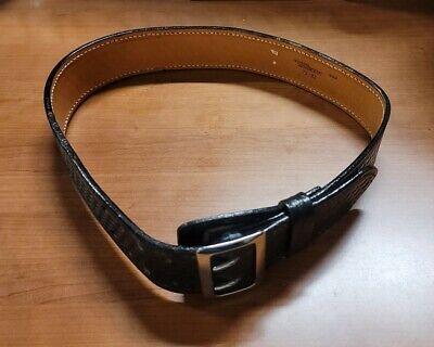 Safariland Basket Model 71 Mixson Leather Buckle Size 32 Hook Lined Police Belt