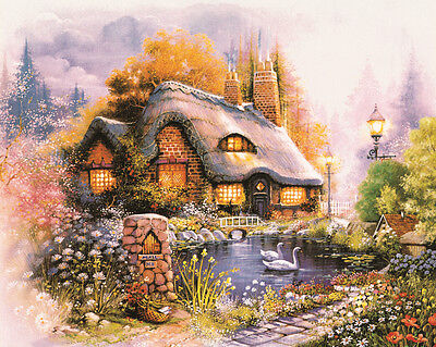 - 3D Cottage Scenery 4068 Wall Paper Wall Print Decal Wall Deco Wall Indoor Murals