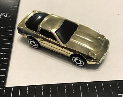 Hot Wheels Micro Chroma Racers '80s Chevy Corvette Car Gold Chrome
