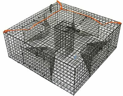 Heavy Duty Shrimp Crab Lobster Cage Crawfish Fish Bait Trap Box Net Fishing -