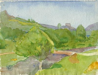 CASTLE IN LANDSCAPE Painting 1924 WALTER SICKERT Pupil FRANK GRIFFITH