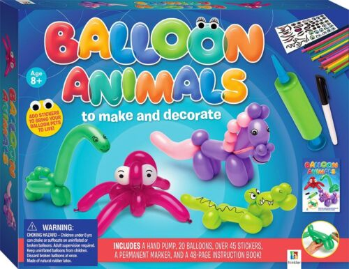 Balloon Animals! To Make and Decorate! Kids Arts & Crafts! Balloons & Stickers!