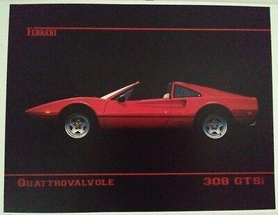 Ferrari 308 GTSi red Poster new  poster