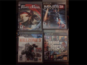 PS3 7 games ,1 controller, power cord, av cord, charging cord