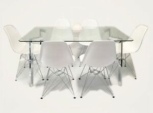 Vita Tower 7pc Dinning Set(Choose from White/Black DC) Punchbowl Canterbury Area Preview