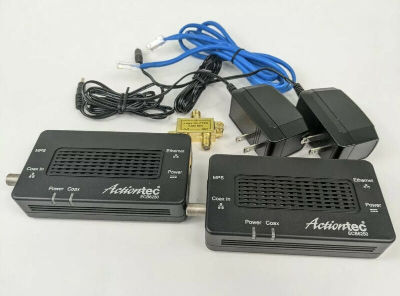 Actiontec Network Adapter for Ethernet Over Coax (2 Pack) - ECB6250