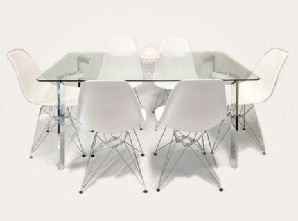 Vita Tower 7pc Dinning Set(Choose from White/Black DC)