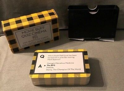 Movie Buff Quiz, Cinema 100 Question Cards Sealed Cards