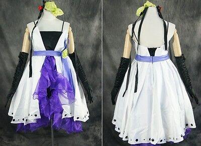 H-046 S/M/L/XL/XXL VOCALOID Haku weiß white blau Cosplay Kostüm costume dress