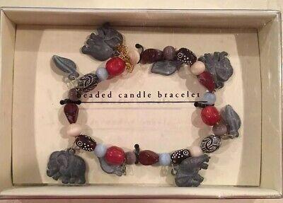 Pier I Imports • Beaded Pillar/Jar Candle Bracelet W/Elephant & Leaf Charms](Elephant Candles)