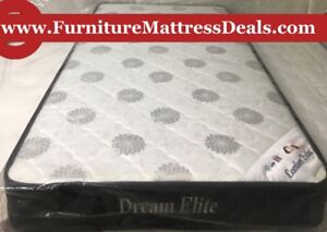 "NEW Double 54""x74"",7.5""Thick Coil Mattress only $200"