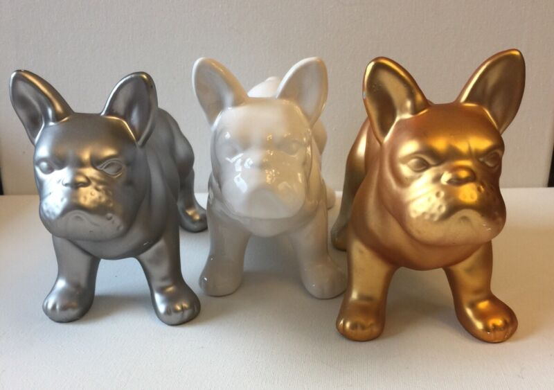 French Bulldog Figurines 3 Different Color Your Choice