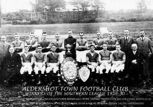 COLLECTION OF #20 ALDERSHOT FOOTBALL TEAM PHOTOS