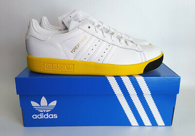 Adidas Originals. Forest Hills. UK 9. White & Yellow. BNIB.