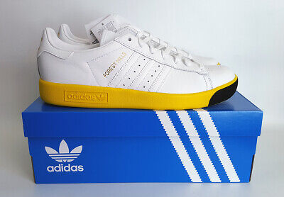 Adidas Originals. Forest Hills. UK 8. White & Yellow. BNIB.