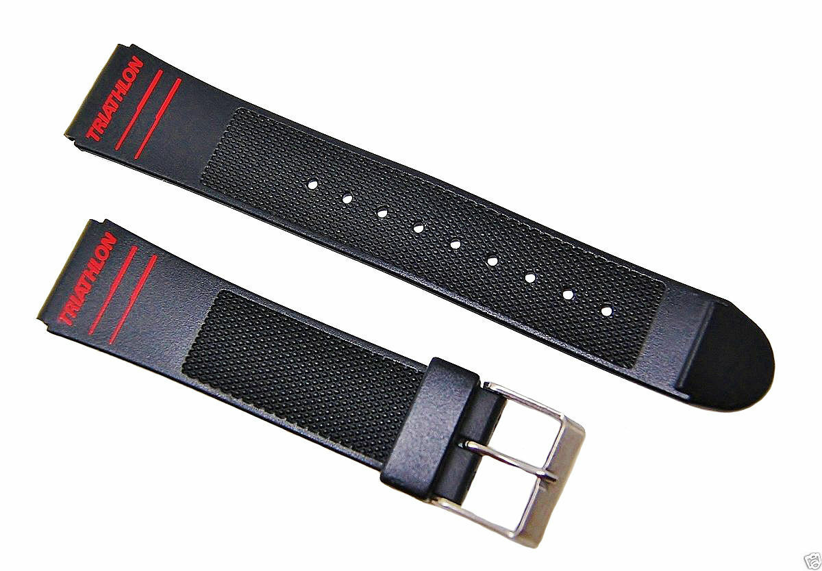 19mm Timex Triathlon Black Replacement Watch band / Strap Sp