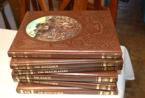 Time Life The Old West Series Books of 1976 Leatherette Covers Lot No. 4