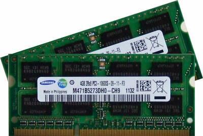 8GB Dual Channel Kit 2x 4 GB SAMSUNG Original 204 pin DDR3-1333 PC3-10600 sodimm - 1333 Kit
