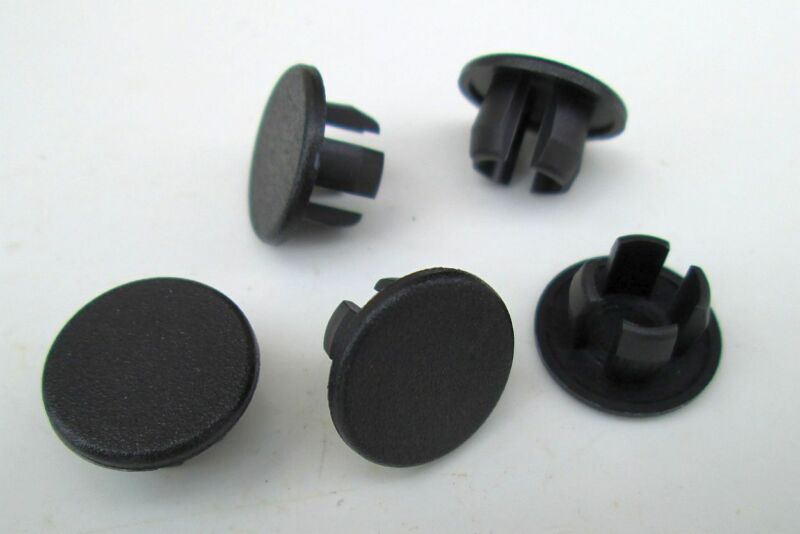 "7/16"" Black Nylon HOLE PLUGS Plug Buttons (12) Boat Car Truck Panel Plugs"