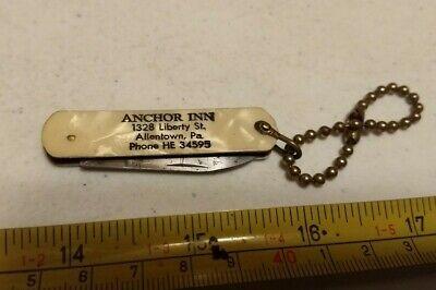 Vintage Anchor Inn Allentown PA Advertising Pocket Knife