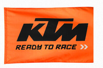 334 KTM FLAG Fahne Flagge Banner Orange Motorrad MTB Wanddekoration Blitzversand