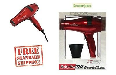 Babyliss PRO Ceramix Xtreme Ceramic Light Salon Hair Blow Dryer BABR5572 Red ion