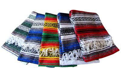3er Posten Mexikanische Falsa Indianer Azteken Decke 190x130 cm Mexican blanket