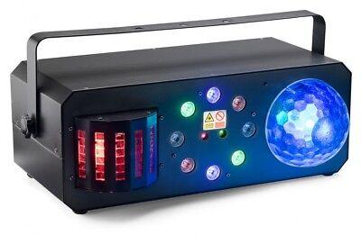 Stinger Laser (Stinger Star 4-in-1 Effekt Moonflower Laser Derby und Wash DMX Multi-Lichteffekt)